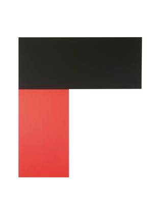 Ellsworth Kelly Chatham X: Black Red 1971 oil on c...