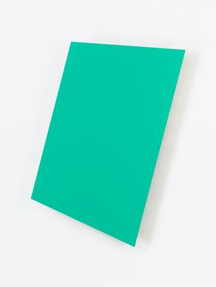 Ellsworth Kelly Light Green Panel 1982 painted alu...