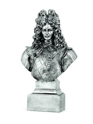 Jeff Koons Louis XIV 1986 stainless steel 46 x 27...