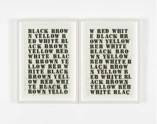Glenn Ligon Untitled (Black, Brown, Yellow, Red, W...