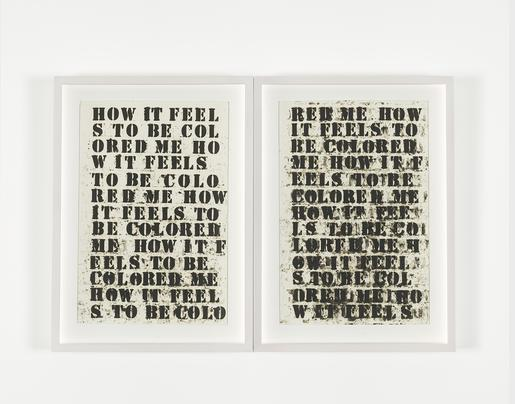 Glen Ligon Untitled (How It Feels To Be Colored Me...