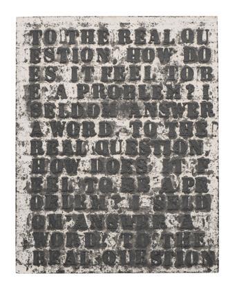 Glenn Ligon Untitled (To the Real Question...W.E.B...