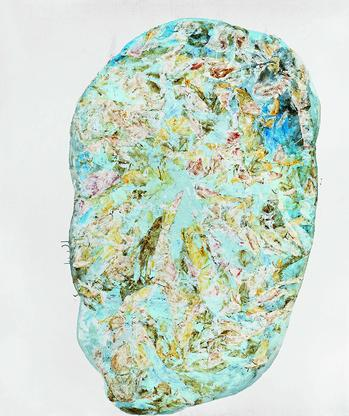 Simon Hantaï, M.M. 22, 1964, oil on canvas, 1...