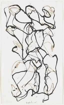 Brice Marden Stele Drawing 5 2007 Kremer ink on Ri...