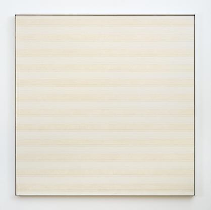Agnes Martin Desert 1985 oil and pencil on canvas...