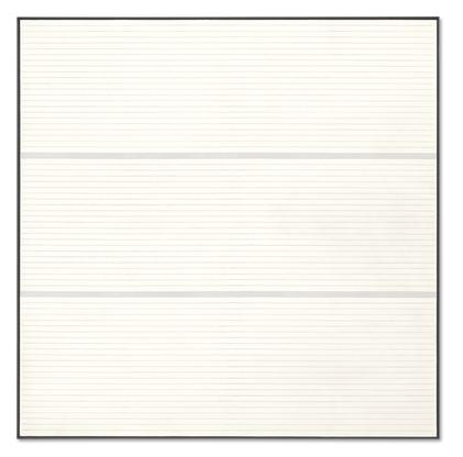 Agnes Martin Untitled #9 1988 acrylic and graphite...