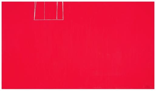 Robert Motherwell Open No. 153: In Scarlet with Wh...
