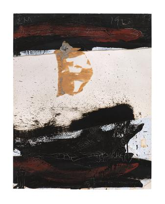 Robert Motherwell Raging Collage 1960 oil and past...