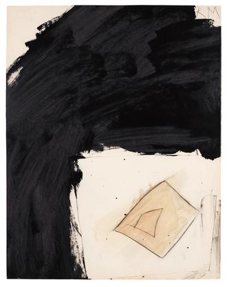 Robert Motherwell Untitled 1958 mixed media collag...