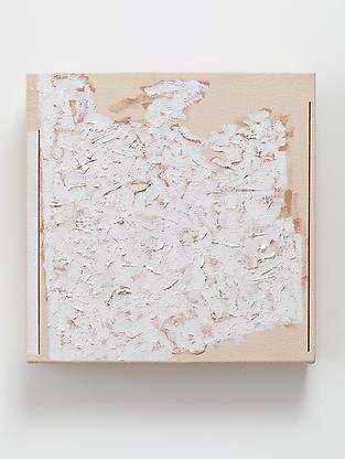 Robert Ryman, Stamp, 2002, oil on canvas, 14 x 14...