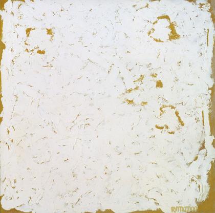 Robert Ryman Wing 2000 oil on cardboard 13 3/8 x 1...