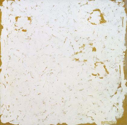Robert Ryman, Wing, 2000 oil on cardboard, 13 3/8...