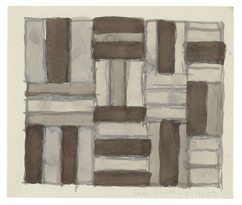 Sean Scully 11.11.00 2000 watercolor on paper 15 x...