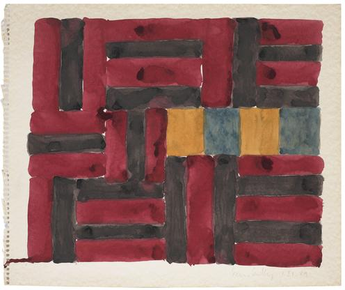 Sean Scully 1.21.89 1989 watercolor on paper 15 x...