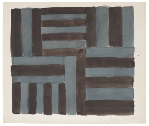 Sean Scully 3.1.90 1990 watercolor on paper 15 x 1...