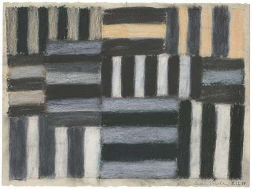 Sean Scully 8.26.88 1988 pastel on paper 22 1/4 x...