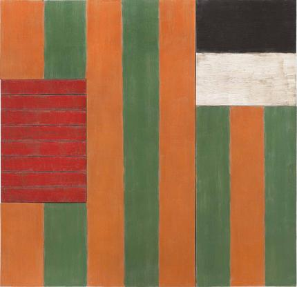 Sean Scully A Green Place 1987 oil on linen 84 x 8...