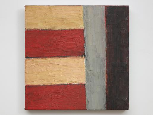Sean Scully Andoman 1984 oil on linen 22 x 20 inch...