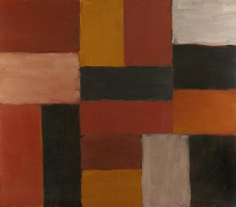 Sean Scully Desire or Desired 2007 oil on linen 84...