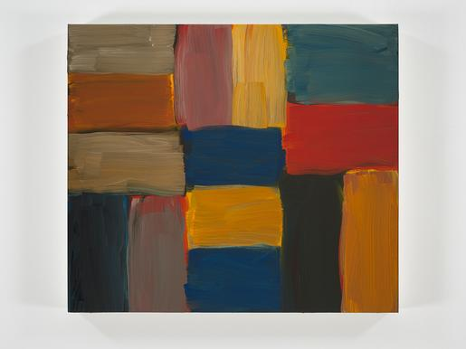 Sean Scully Doric August 2017 oil on linen 28 1/8...