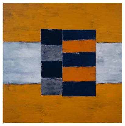 Sean Scully Gate 1997 oil on linen 72 x 72 inches...