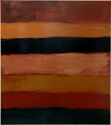 Sean Scully Landline Red Pool 2019 oil on aluminum...