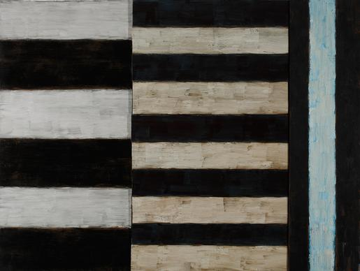 Sean Scully Long Night 1985 oil on canvas and wood...