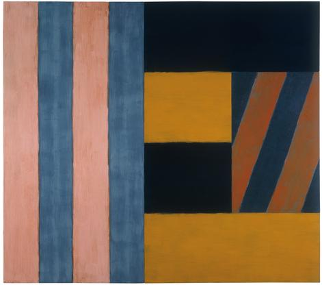 Sean Scully Music 1986 oil on linen 96 x 108 1/8 x...