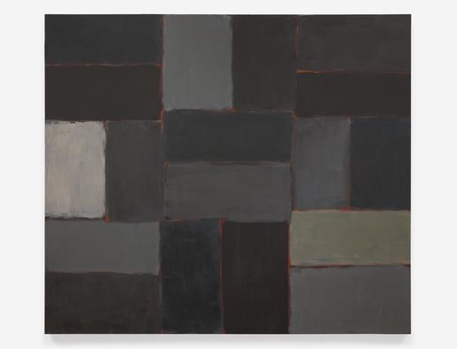 Sean Scully Near Night 2005 oil on linen 84 x 96 i...