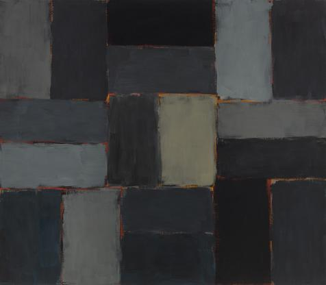 Sean Scully Night 2003 oil on linen 84 x 96 inches...