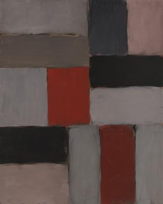 Sean Scully Pink and Red Bars 2007 oil on linen 90...