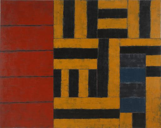 Sean Scully Secret Sharer 1989 oil on linen 100 x...