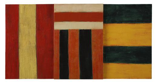Sean Scully Triptych 1984 oil on canvas 42 x 81 1/...