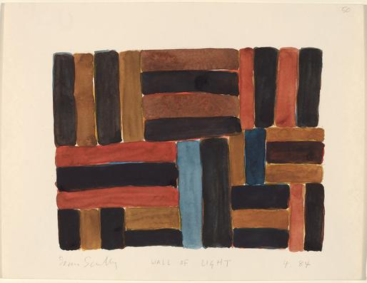 Sean Scully Wall of Light 4.84 1984 watercolor ove...