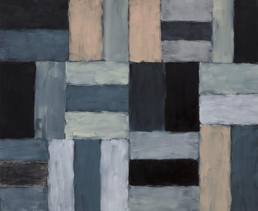 Sean Scully Wall of Light Desert Night 1999 oil on...