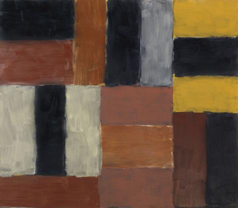 Sean Scully Wall of Light Orange Red 2000 oil on l...