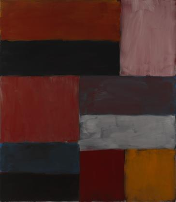 Sean Scully Wall of Light Pink Orange 2012 oil on...