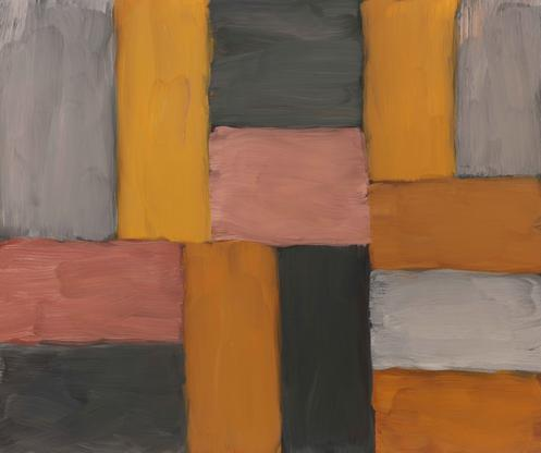 Sean Scully Wall of Light Pink Yellow 2011 oil on...