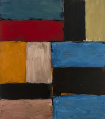 Sean Scully Wall of Light Red Yellow 2012 oil on l...