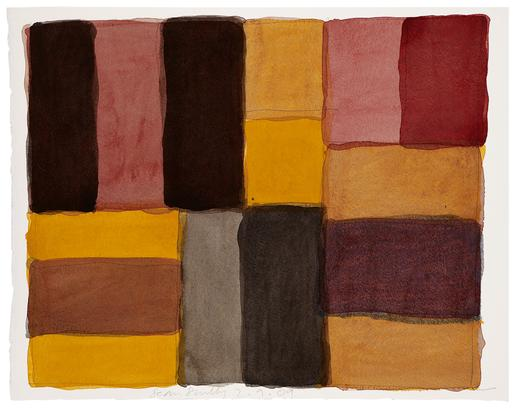 Sean Scully 2.9.09 2009 watercolor on paper 15 x 1...
