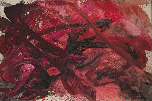 Kazuo Shiraga Untitled  1959 oil on canvas 71...
