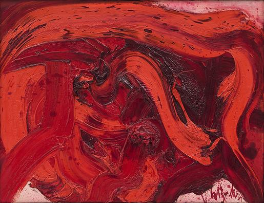 Kazuo Shiraga Untitled 1964 oil on canvas 19 1/2&n...