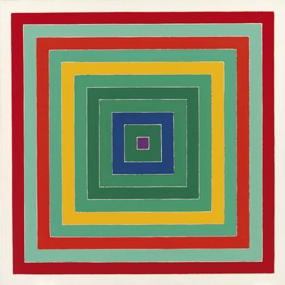 Frank Stella D. Scramble: Ascending Green Values/A...
