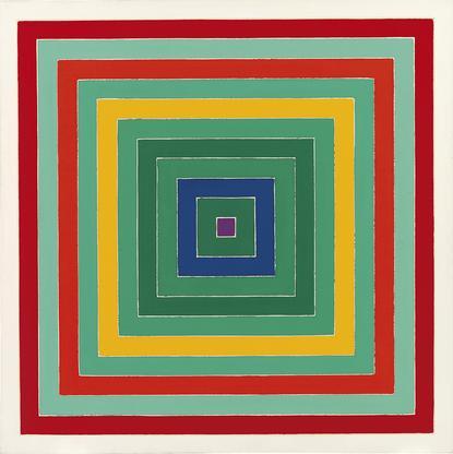 Frank Stella,D. Scramble: Ascending Green Va...