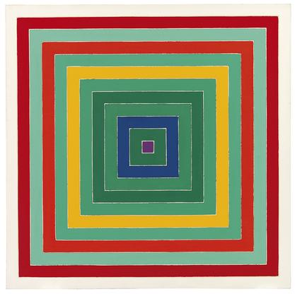 Frank Stella D. Scramble: Ascending Green Values/A...