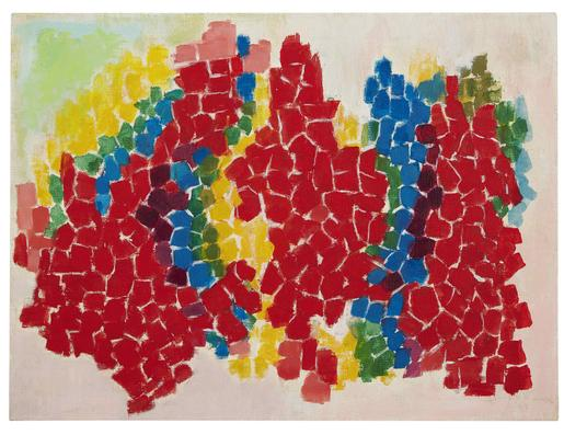 Alma Thomas Azaleas 1969 acrylic on canvas 23 1/2...