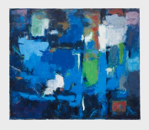 Alma Thomas Blue Abstraction 1961 oil on canvas 34...