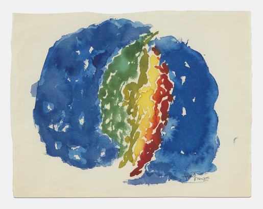 Alma Thomas Untitled ca. 1965 watercolor on paper...