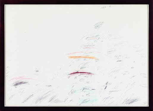 Cy Twombly, Capri, 1960 wax crayon, graphite and p...