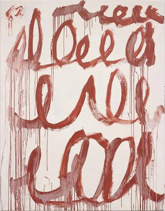 Cy Twombly Untitled 2006 acrylic on canvas 84 5/8...